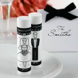 Bride and Groom Lip Balm Favors