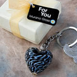 Murano Glass Heart Keychain Favors
