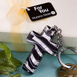 Murano Glass Cross Keychain Favors