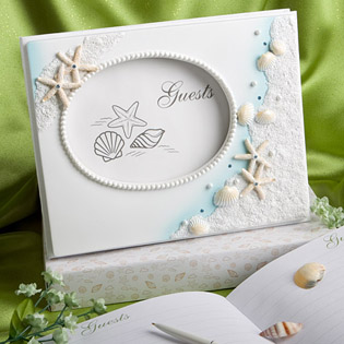 Finishing Touches Collection - Beach Themed Wedding Guest Book