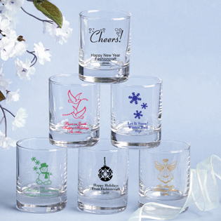 Holiday Themed Shot Glass Favors