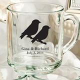 Personalized 10 Oz Glass Handy Mug Favors