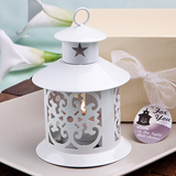 Fabulous White Metal Lantern Favor