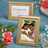 Beaded Gold Place Card/Photo Frames