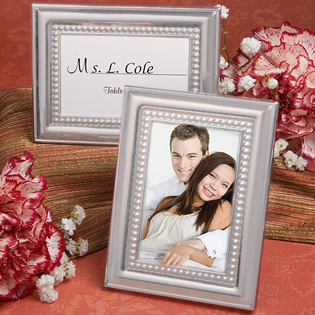 Matte Silver Metal Place Card & Photo Frames