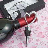 Heart Wine Bottle Stopper Favors..