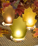Leaf Candle Wedding Favors