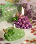 Wine Themed Wedding Favor Candles