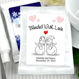Personalized Winter Theme Coffee Favors, White Bag - (6 designs available)