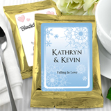 Personalized Winter Theme Coffee Favors, Gold Bag - (6 designs available)