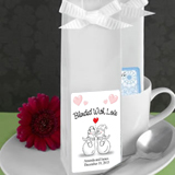 Winter Themed Personalized Coffee Wedding Favors