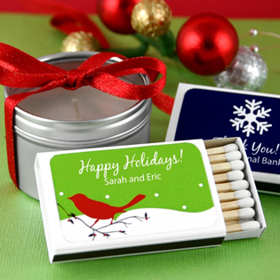 Holiday Matchboxes - White Box (Set of 50)