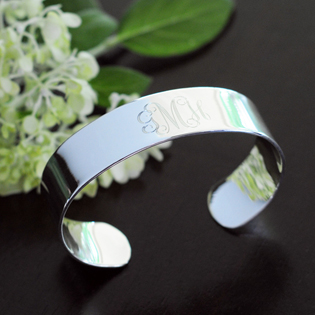 Personalized Wide Cuff Bracelet