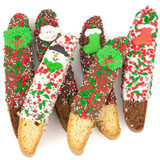 Christmas Dipped Biscotti Favors