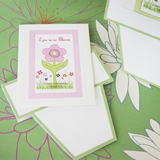 """Flowers in Bloom"" Seed Packets with Flower Pot Card"
