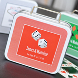 �A Lucky Pair� Personalized Vegas Suitcase Tins