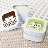 Mod Monogram Personalized Square Candle Tins