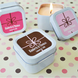 Square Candle Tin Favors