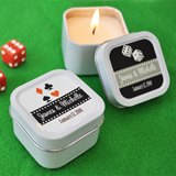 �A Lucky Pair� Personalized Vegas Square Candle Tins