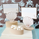 Shell Place Card Favor Boxes with Designer Place Cards (set of 12)