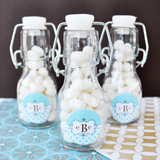 Mod Monogram Personalized Mini Glass Bottles
