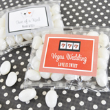 A Lucky Pair Vegas Themed Personalized Jelly Bean Packs