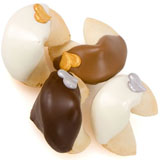 Silver & Gold Hearts Gourmet Fortune Cookies