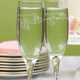 Swirl Heart Flutes (Set of Two)