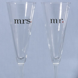 Toasting Flutes (Set of Two)