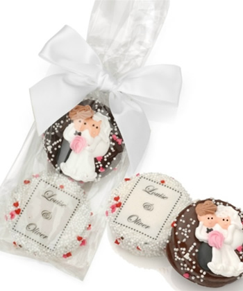Wedding Chocolate Oreos-Bag of 2 Tied With Ribbon
