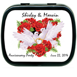 Anniversary Doves & Roses Mint Tins