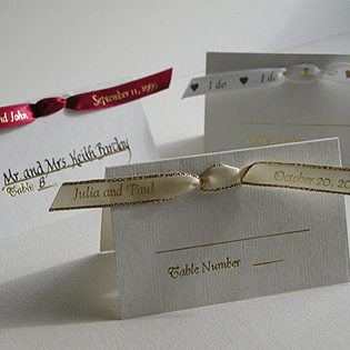 Ribbon Seating Cards